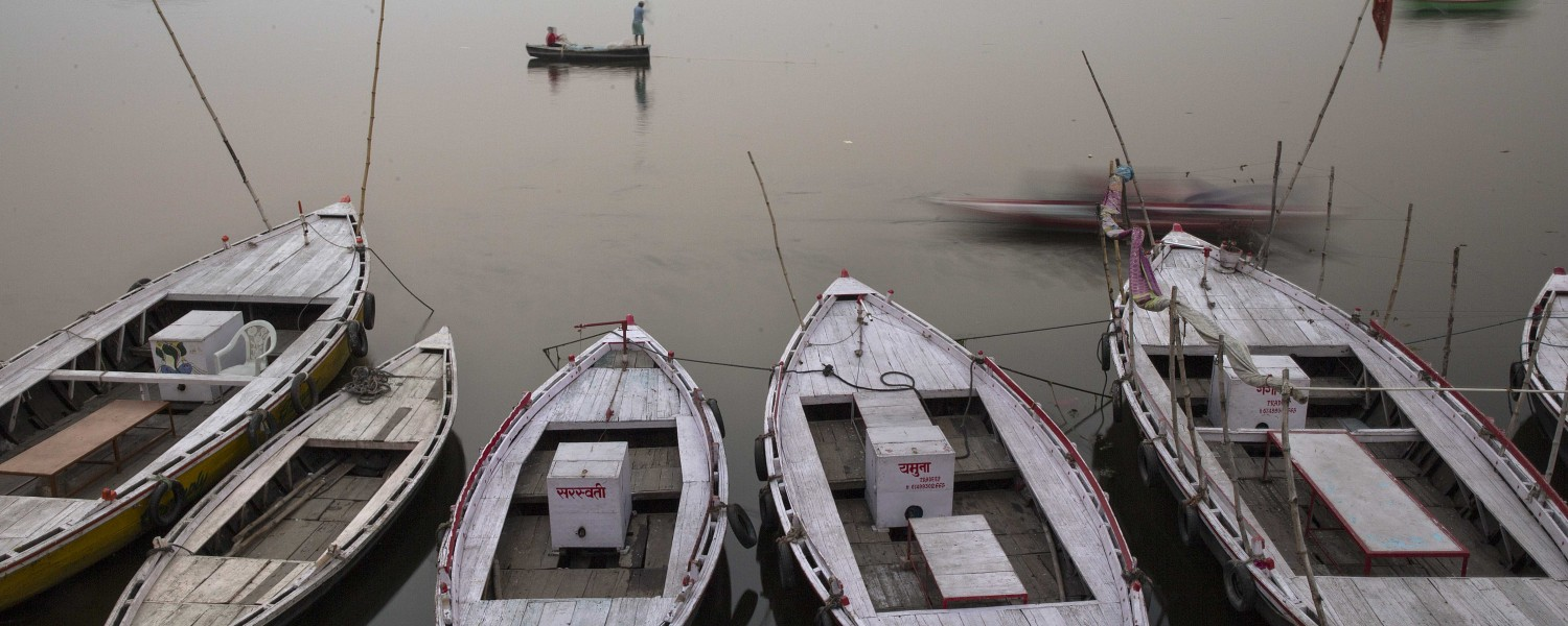 "<p style=""text-align: left;"">Discover the sacred Ganges River in Varanasi</p>"