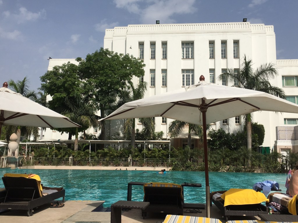 Relaxing by the pool - The Imperial, Delhi