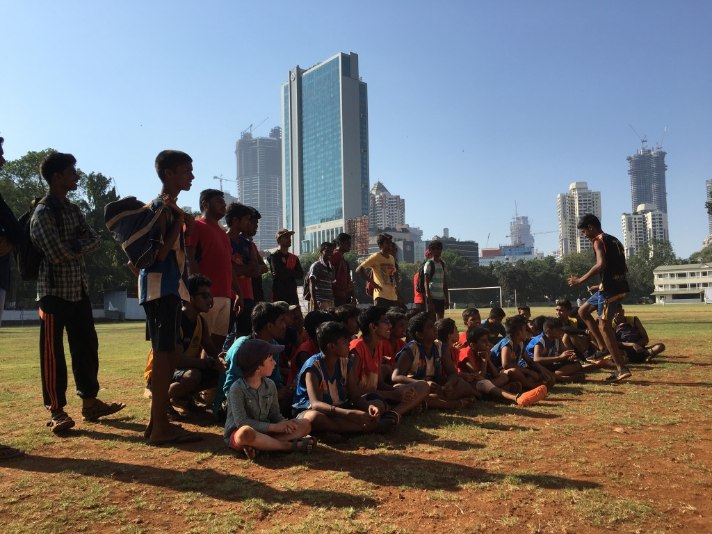 Passionate Footy Players at the Reclink Mumbai Footy Cup