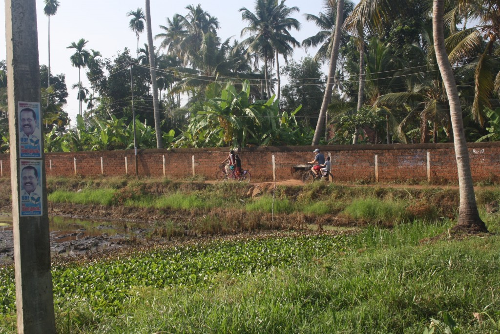 On your bike: exploring the small village near the homestay in Kerala