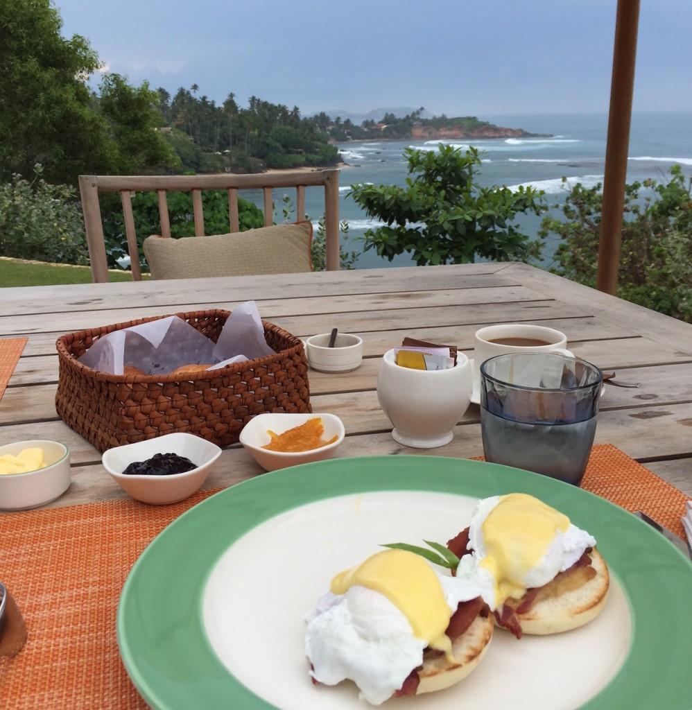 The breakfast & the view: Cape Weligama luxury resort, Sri Lanka