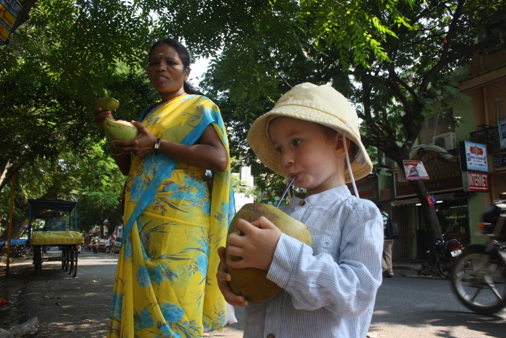 Coconuts are a great way to stay hydrated and kids love them!