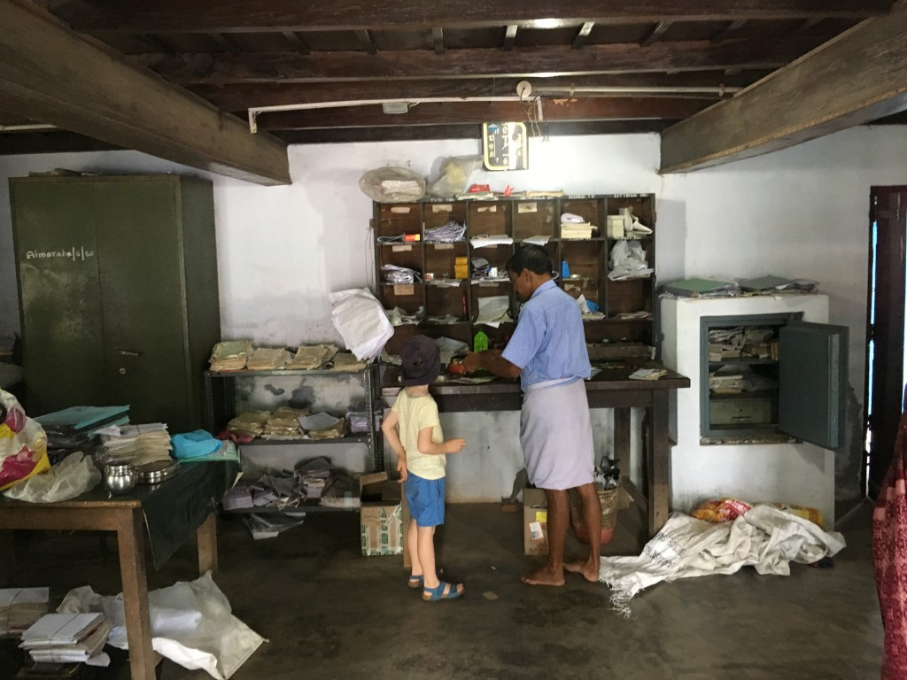 Inside a tiny post office in the backwaters of Kerala
