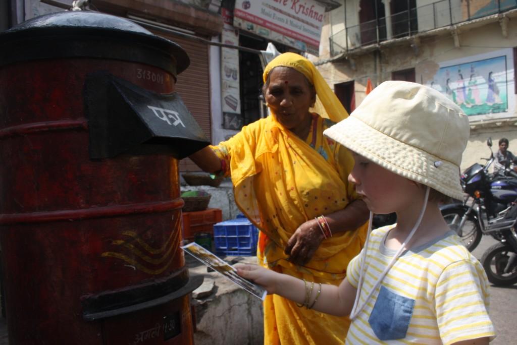 Sending postcards from Udaipur, Rajasthan