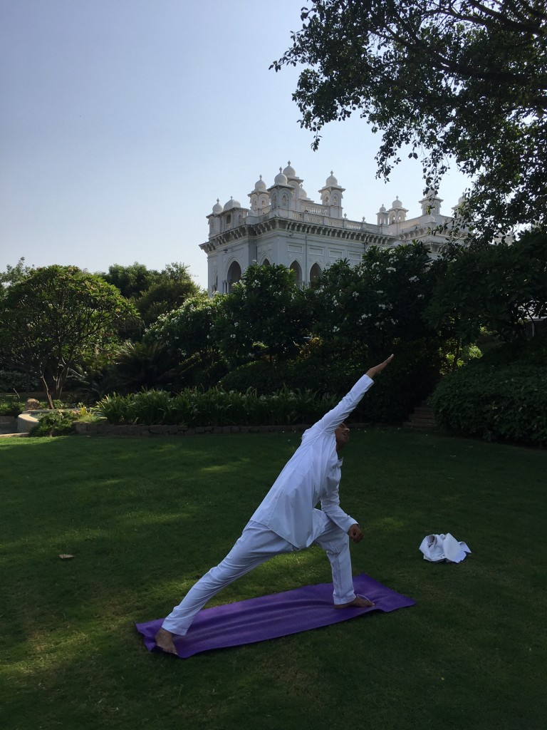 Yoga at Falaknuma Palace, Hyderabad