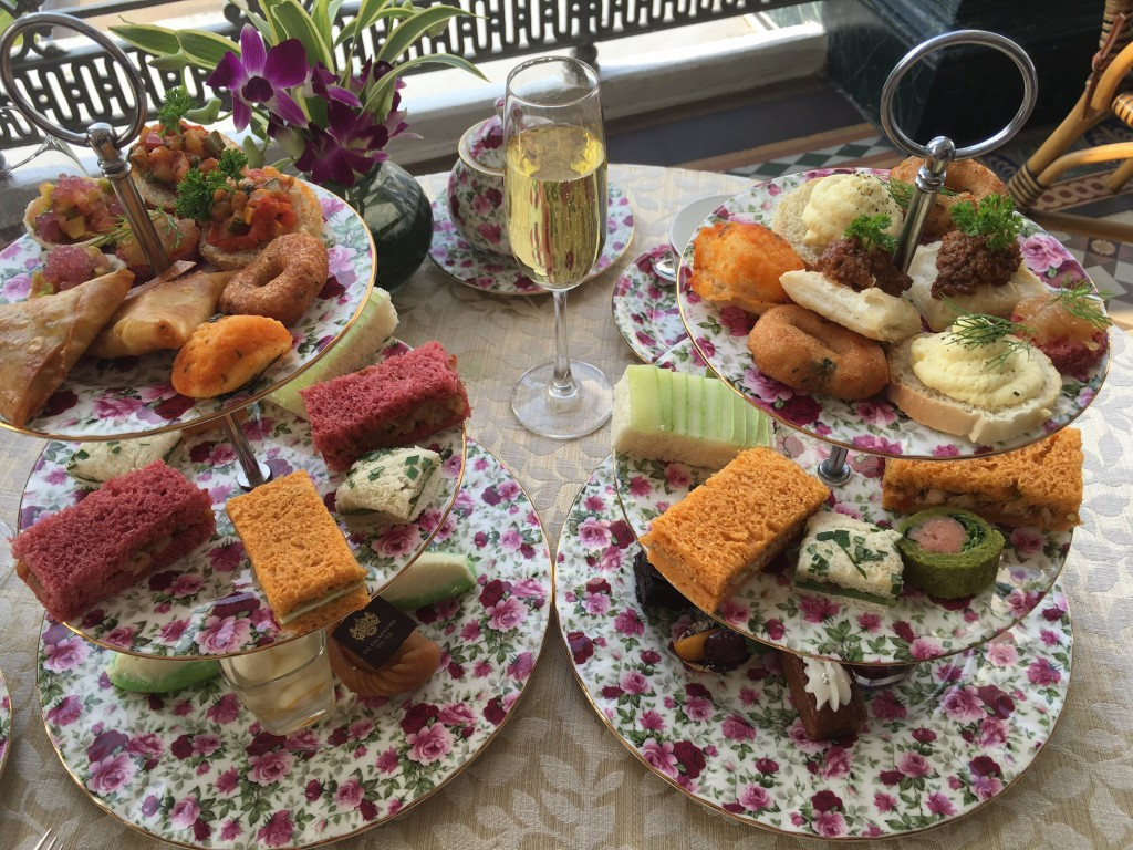 High tea at Falaknuma Palace, Hyderabad, India