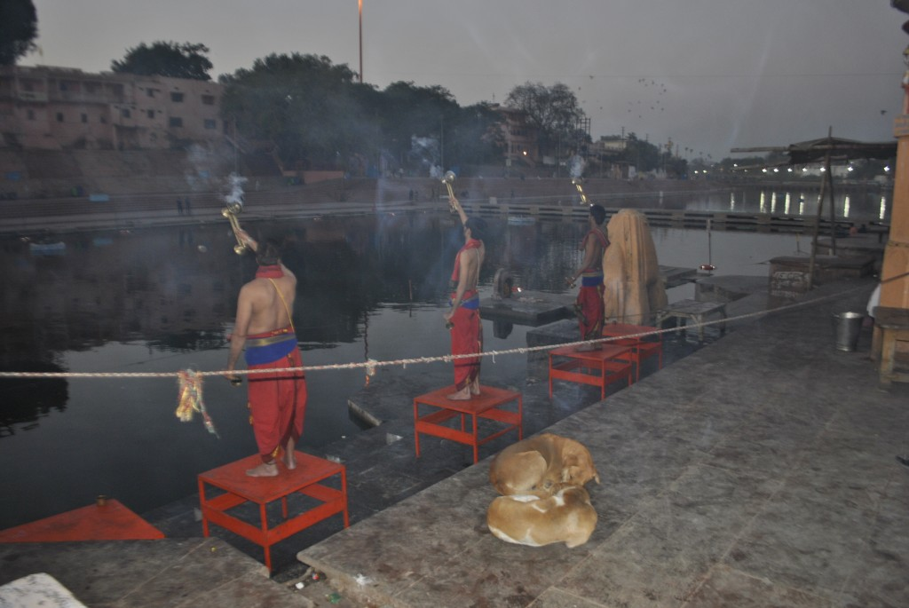 Aarti ceremony Ujjain, India