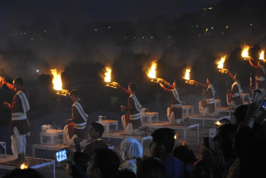 Rishikesh Arrti ceremony India