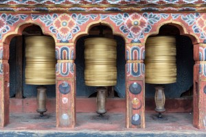 Spinning Prayer Wheels - Bhutan